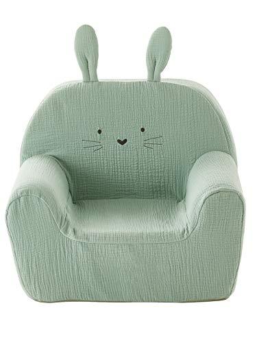 Vertbaudet Stuhl aus Schaumstoff, Hase, Grün