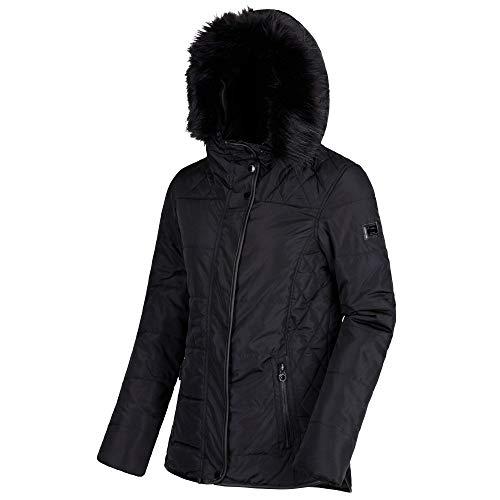 Regatta Damen Winika Water Repellent Insulated Jacke Schwarz Größe 38