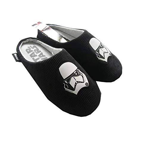Star Wars - Pantofole da uomo in poliestere con lato oscuro, colore: nero