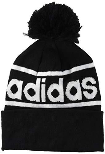 adidas Logo Pom Woolie Hat, Unisex Adulto, Black/Dgreyh/White, OSFM