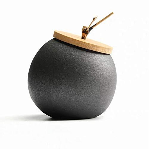 XUGG Caja de té de cerámica, tanque de almacenamiento de frutas secas, bote de cerámica gruesa, botella sellada, accesorios de té, tarro de especias para el hogar, carrito de té, regalos ( Size : A )