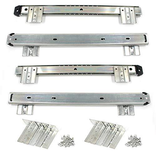 Karcy - Soporte para teclado (acero, 14 pulgadas, 1 par)