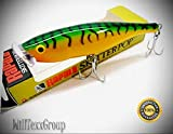 WillTexxGroup SSP-12 Green Mackerel Skitter Pop Saltwater 12 Fishing Lure SSP12-GM for Fishing Bass Kayak Ice Saltwater Freshwater