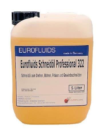 Eurofluids Schneidöl Professional 322 (nicht-wassermischbarer Kühlschmierstoff) für Bohren, Drehen, Fräsen, Gewindeschneiden | 5 Liter