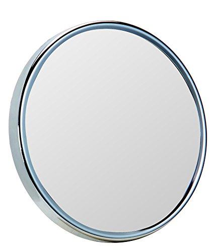 Gerson Miroir Chromé Grossissant x 10 Equipé de 3 Ventouses Diamètre 18 cm