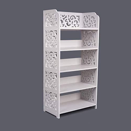 Hollylife Mueble de Zapatero Blanco, Armario Estantes Organizador de Zapatos Libros, 82x40x22cm