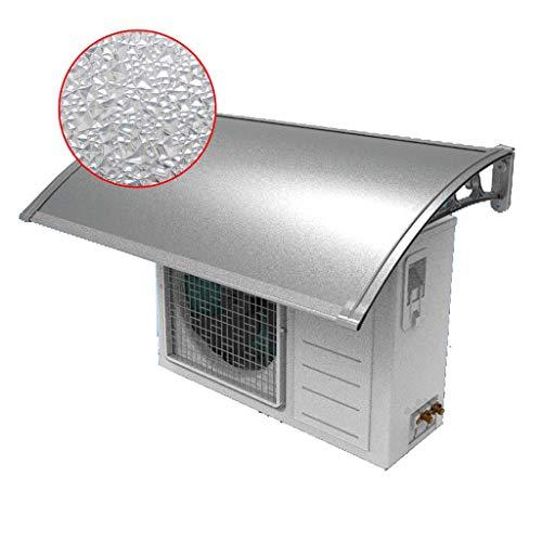 LXYA Dosel de aire acondicionado al aire libre, diamante Textura PC policarbonato cubierta de aleación de aluminio y soporte, Protege del sol, lluvia, aguanieve o nieve 60x105CM - Fácil Instalación qu