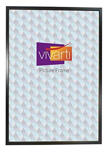 Dun mat zwart doosje fotolijst, A1-formaat, 59,4 x 84 cm