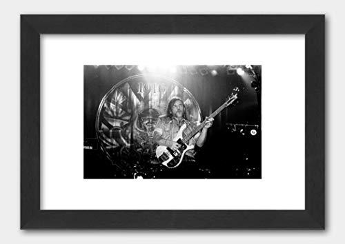 Motorhead - Lemmy Kilmister Live in Portsmouth 1991 Poster Black Frame White 29.7x42cm (A3)