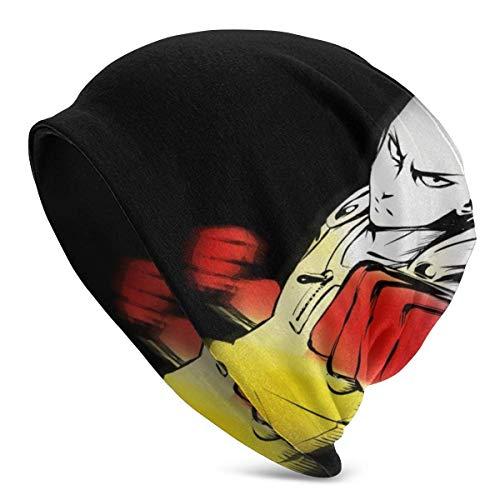 SVDziAeo ONE Punch Man-Saitama Strickmütze im Anime-Stil Unisex Beanie Skull Cap Warme Wintermütze Leicht und atmungsaktiv