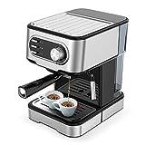 IKOHS THERA Easy Latte - Cafetera Express Semiautomática 20b, para Espresso, Cappucino, Macchiato, 1100W, Vaporizador...