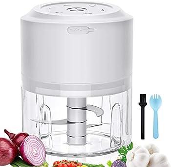 ZEBRE Mini Electric Cordless Food Processor (White)