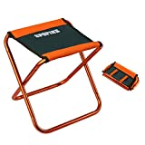 SPOFINE Mini Camp Stool, Lightweight Camping Stool, Portable Folding Camp Chair, Foldable Outdoor Chairs for Travel, Camping, Hiking, Fishing (Large Size: 12'x12'x10.5')
