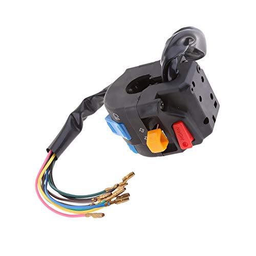 linger 1 PCS Motorcycle Interruptor multifunción Interruptor de pulsador Faro de la señal de Giro Interruptor de Paso de la señal 12V para la Motocicleta ATV de Manillar 22mm, etc.