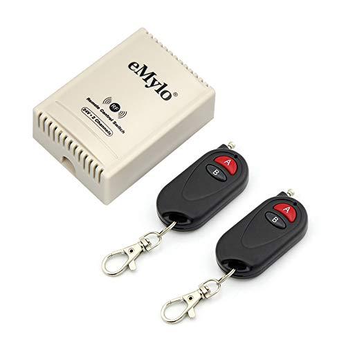 eMylo DC 24V 2 Kanäle Funk fernbedienung Schalter 433MHz RF Relais modul Empfänger mit Sender