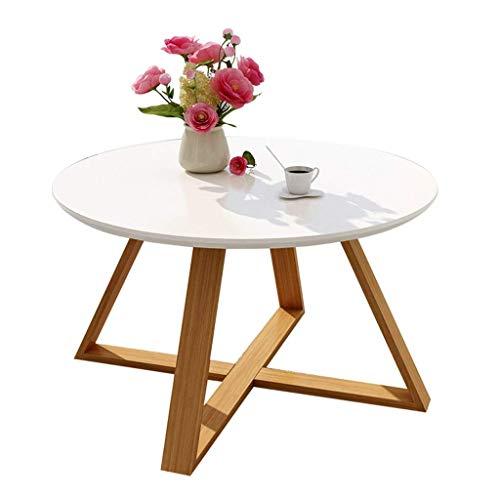 Couchtische Kaffetisch Stilvolle Sofa Beistelltisch personalisierter Runder Steintisch Bürozeitschrift Tisch/Tee Tisch Stilvoll und Langlebig Dauerhaft (Color : Weiß, Size : 60x45cm)
