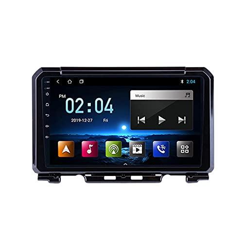 Android De Radio De Coche Bluetooth Car Reproductor Estéreo Micrófono Incorporado Apoyo Llamadas De Manos Libres/Mirror Link/Control del Volante, para Suzuki Jimny 2019,Octa Core,4G WiFi 4+64