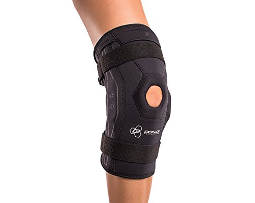 DonJoy Performance Bionic Knee Brace – Hinged, Adjustable Patella Support, Lateral / Medial Ligament (ACL, MCL, LCL), Meniscus, Knee Sprains for Soccer, Basketball, Skiing, Hockey, Running, Water Sports