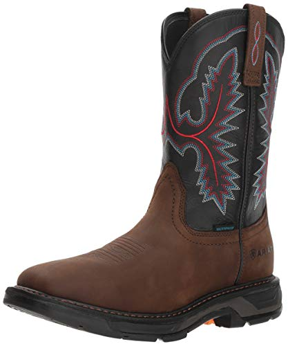 Ariat Work Men's WORKHOG XT H2O Boot, oily distressed brown, 10 D US