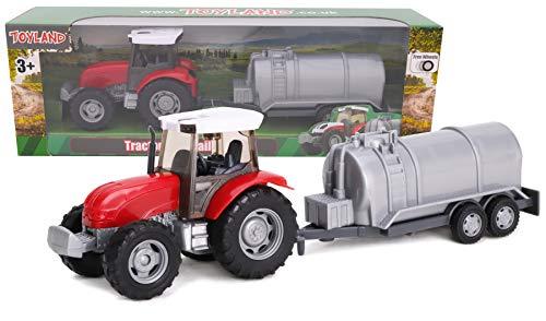 TOYLAND - Juego de Tractor y camión Cisterna / Remolque de...