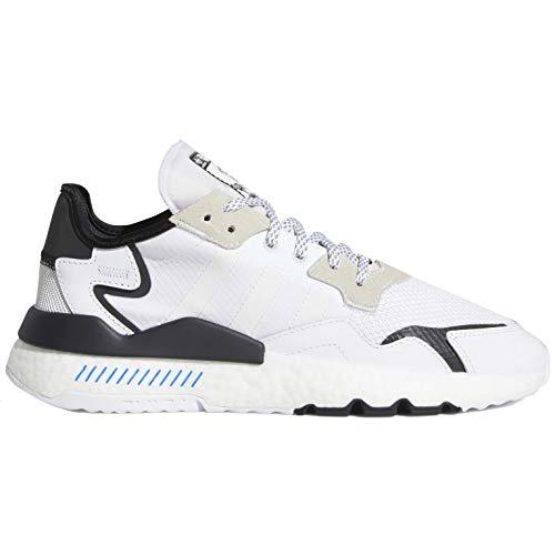 adidas Originals X Star Wars NITE Jogger Zapatos casuales para hombre, Blanco (Storm Trooper/Blanco/Negro), 43 EU