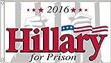 Flag Donald Trump - Hillary Clinton for Prison 5'x3' (150cm x 90cm)