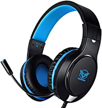 Karvipark H-10 Gaming Headset for Xbox One/PS4/PS5/PC/Nintendo Switch|Noise Cancelling,Bass Surround Sound,Over Ear,3.5mm Stereo Wired Headphones with Mic for Clear Chat