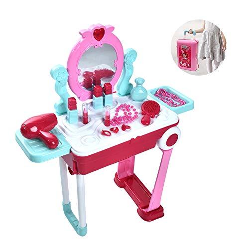 Kinderspielzeug, Simulation Kosmetikspielzeug Kinder Kinder Rollenspiel Kit Set Koffer Kommode, Rollenspiel Spielzeug