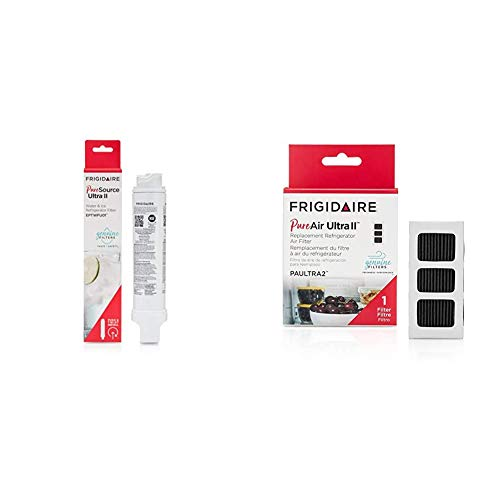 """Frigidaire EPTWFU01 Refrigerator Water Filter, 1 Count, White & PAULTRA2 Air Filter, 3.8"""" x 1.8"""", White"""