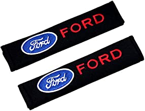 QZS Ford Car Brand Seat Belt Shoulder Pads Strap Covers Cushion 1 Pair for Car