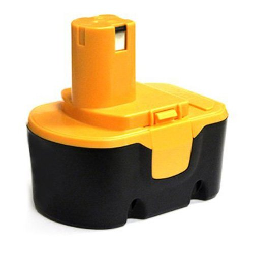 TOOGOO(R) Reemplazo de fuente de bateria de herramientas para RYOBI 14,4 V, RY62, RY 6200, RY 6201, RY 6202, 130 224 010, etc negro y amarillo