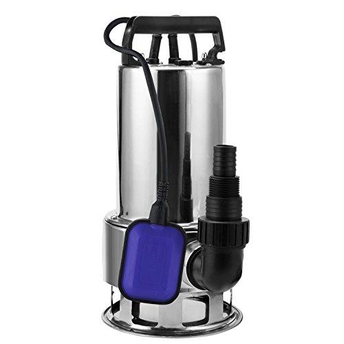 Homdox 1.5 HP 4356 GPH Stainless Steel Sump Pump Submersible 1100W Dirty Clean Water Drain Pump for Pool, Hot Tub, Pond, Basement