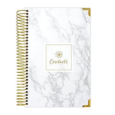 bloom daily planners Address Book - Contacts - Addresses and Phone Numbers - 6  x 8.25  - Marble