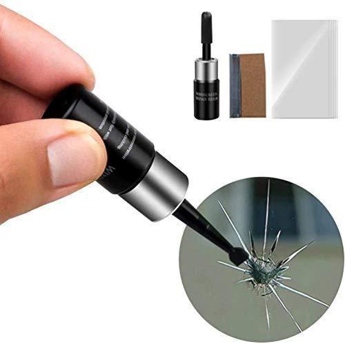 Cdoston Windschutzscheiben Reparatur Set, Autoglas Reparaturflüssigkeit, Auto reparatursatz Fenster für Glas Chip Risse Fix Auto Glass Crack Chip Scratch Repair DIY Tool Kit (1 pcs)