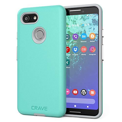 Crave Dual Guard for Google Pixel 3 Case, Shockproof Protection Dual Layer Case for Google Pixel 3 - Mint