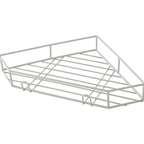 LQ-Wall Shelf Wandrek, eenvoudig badkamer hoekplank statief gratis geperforeerde muur ruimtebesparende keuken opslagplank wastafel