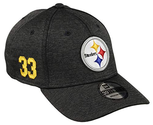 New Era Pittsburgh Steelers 39thirty Stretch Cap NFL Established Number Black -...