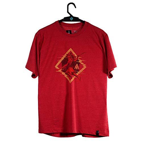 Camiseta Odyssey Alexios, Assassin´s Creed, Masculino, Vermelho Mescla, PP