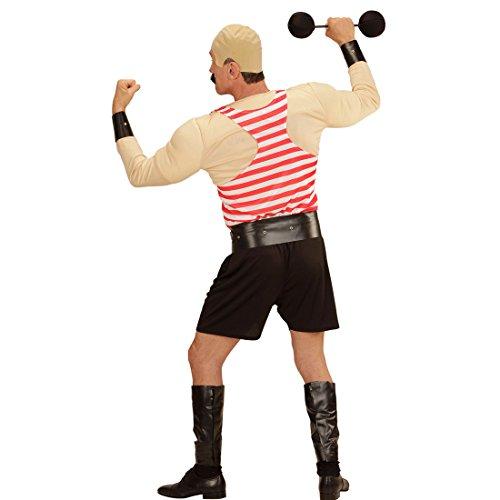 Amakando Traje de Cachas Carnaval - XL (ES 54)   Disfraz de Circo   Traje Halterfilo   Disfraz Hombre Musculoso