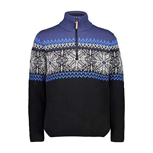 CMP Herren Pullover Knitted Multicolor, Tricot, Schwarz, 58