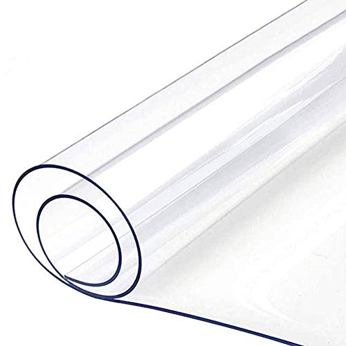 NINGWXQ Stuhl-Matte for Holzboden PVC Umweltschutz Rechteck Bodenmatten for Office Kratzfest Hitzebeständig bis wasserdicht Nehmen Office/Home Parkett (Color : Clear-1.0mm, Size : 140x200cm)