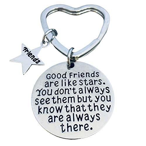 Best Friends Keychain-Good Friends Heart Keychain- Friend Jewelry- Perfect Gift for Friends