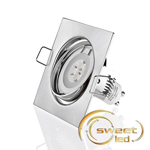 Sweet Led cadre carré pour spot à intensité variable, Power LED 3x1W, 230V, ensemble complet