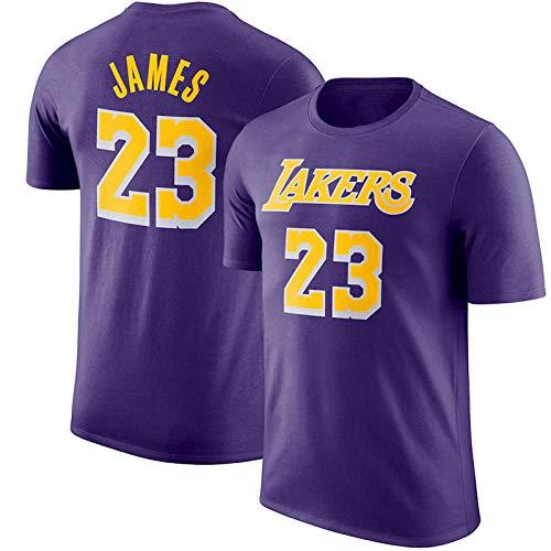 Camiseta De Baloncesto para Hombre Los Angeles Lakers Lebron James Swingman Camisa De Manga Corta Ropa para Jóvenes Sudadera S-XXXL 4 Color Purple2-L