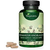 Ajo Negro Vegavero® | La Dosis Más Alta: 600 mg/Cápsula | Extracto 10:1 = Equivale a 6000 mg | Testado en Laboratorio | Sin Aditivos Artificiales | Colesterol + Antioxidante | 120 Cápsulas