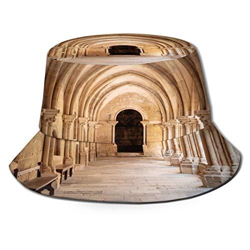 fudin Sombrero de Pescador Unisex Portugal Monasterio de Batalha Plegable De Sol/UV Gorra Protección para Playa Viaje Senderismo Camping