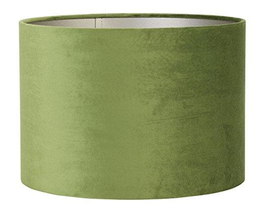 Light & Living lampenkap cilinder 35-35-30 cm Velours olijfgroen voor woonkamer eetkamer slaapkamer enz.