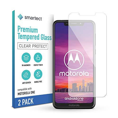 smartect Panzerglas kompatibel mit Motorola One [2 Stück] - Tempered Glass mit 9H Festigkeit - Blasenfreie Schutzfolie - Anti Fingerprint Panzerglasfolie