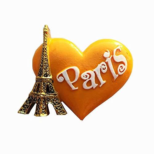 Weekino Parigi, Francia Calamità da frigo 3D Polyresin Tourist City Viaggio Souvenir Collezione Regalo Forte Frigorifero Sticker