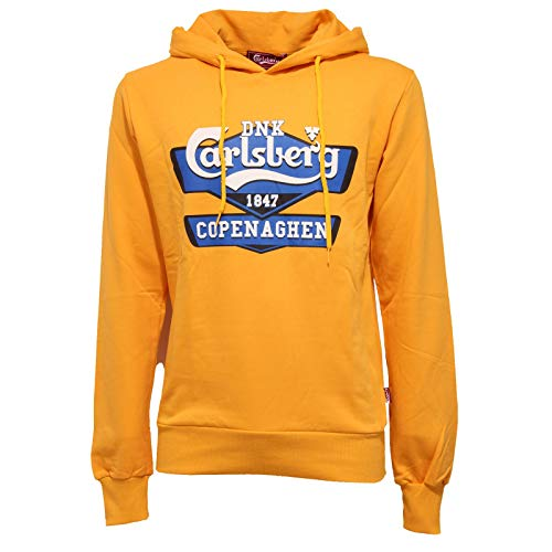 Carlsberg 7183J Felpa Uomo Yellow Heavy Cotton Sweatshirt Man [XL]